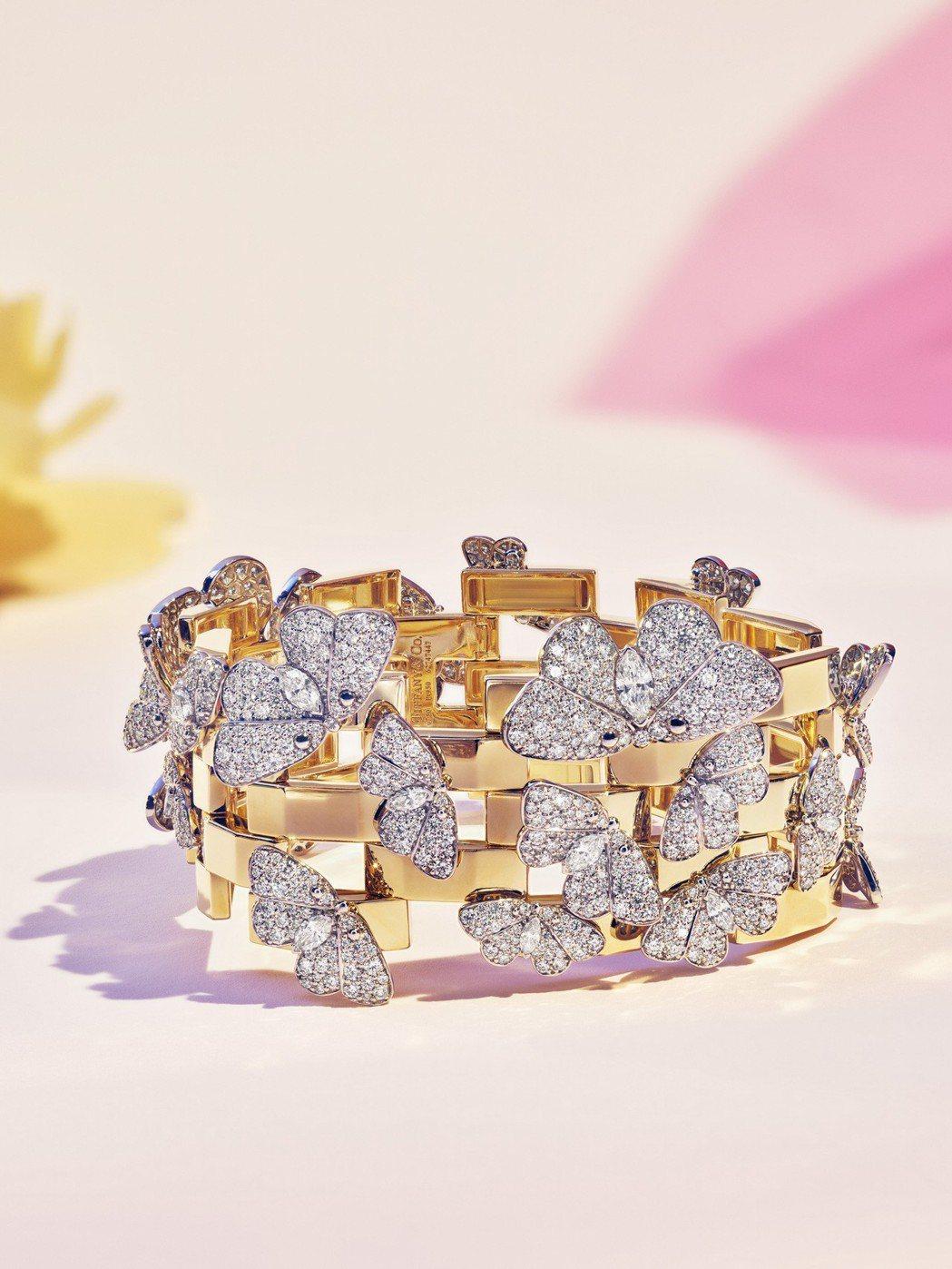 Tiffany 2018 Blue Book系列夏季主題,鉑金與18K金鑲嵌混合...