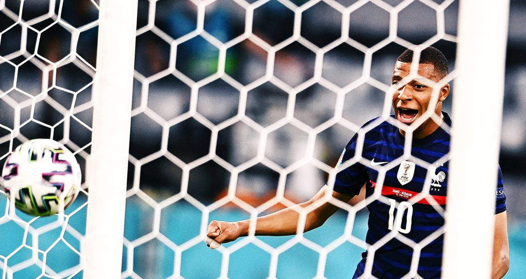 週末回顧用的新增配圖,2021年歐洲國家盃,代表法國出賽的姆巴佩。 圖/歐新社
