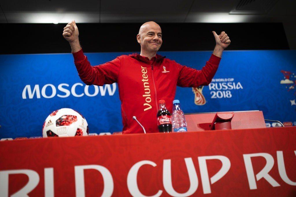 國際足球總會主席英凡提諾(Gianni Infantino)於記者會上強調,卡達...