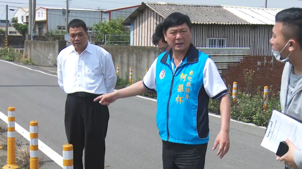 彰化縣議員柯振杯(中)因酒駕被判刑7個月。 記者林敬家/翻攝