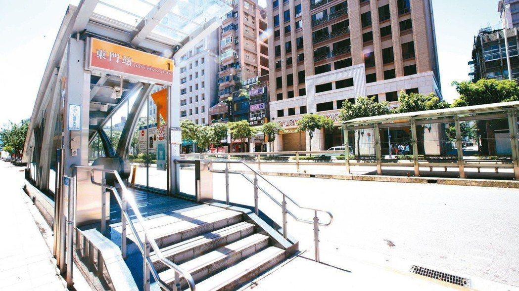 捷運東門站周邊,交通便捷,生活機能完備。 記者陳正興/攝影