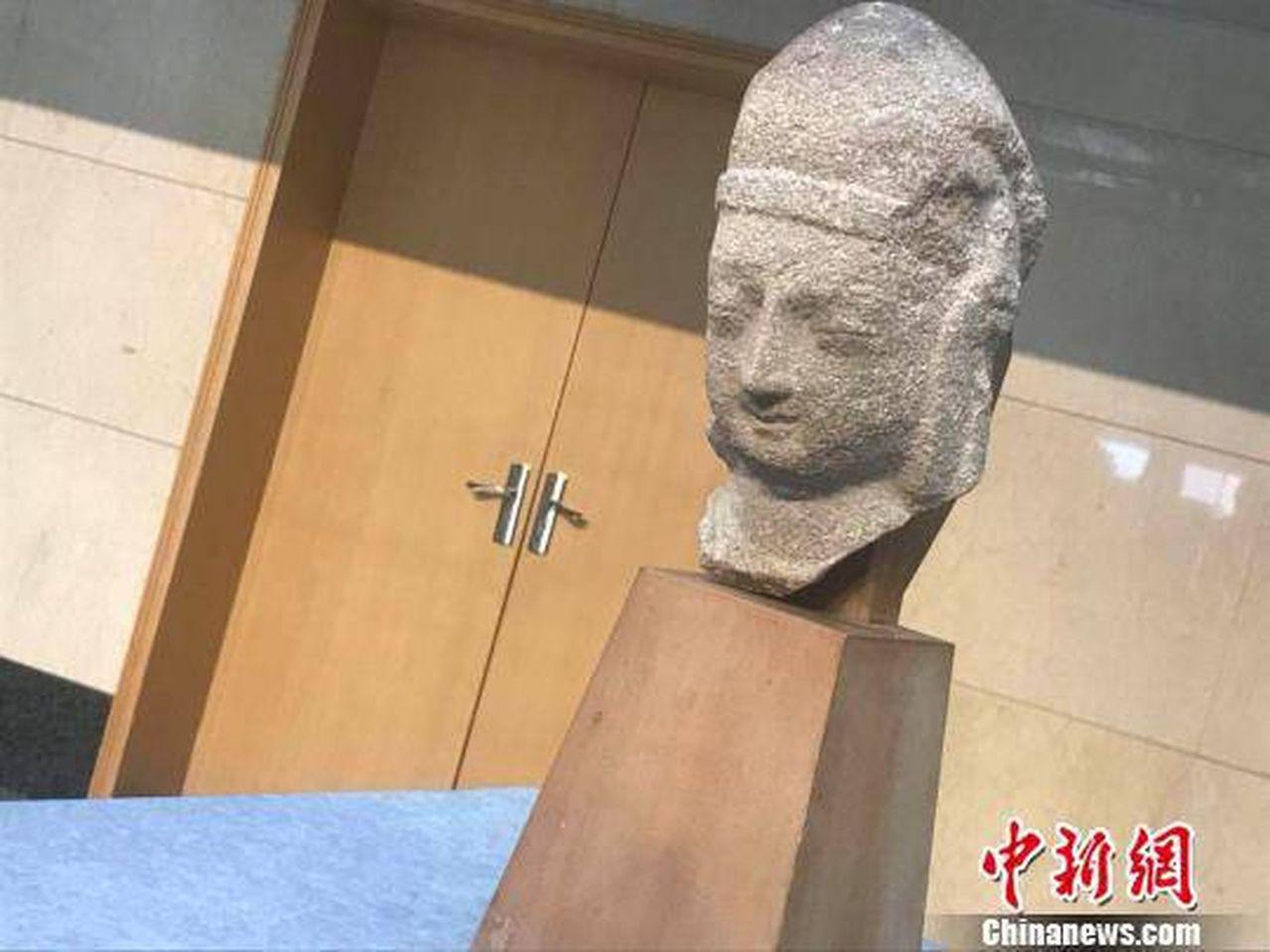 美國華裔伉儷捐贈北魏佛像歸鄉。 中國新聞網