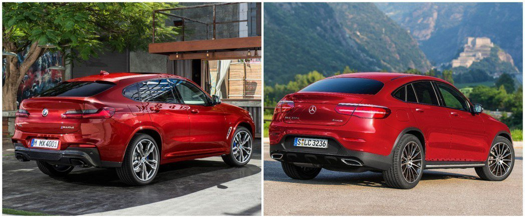 圖左為BMW X4,圖右為Mercedes-Benz GLC Coupe。 摘自...