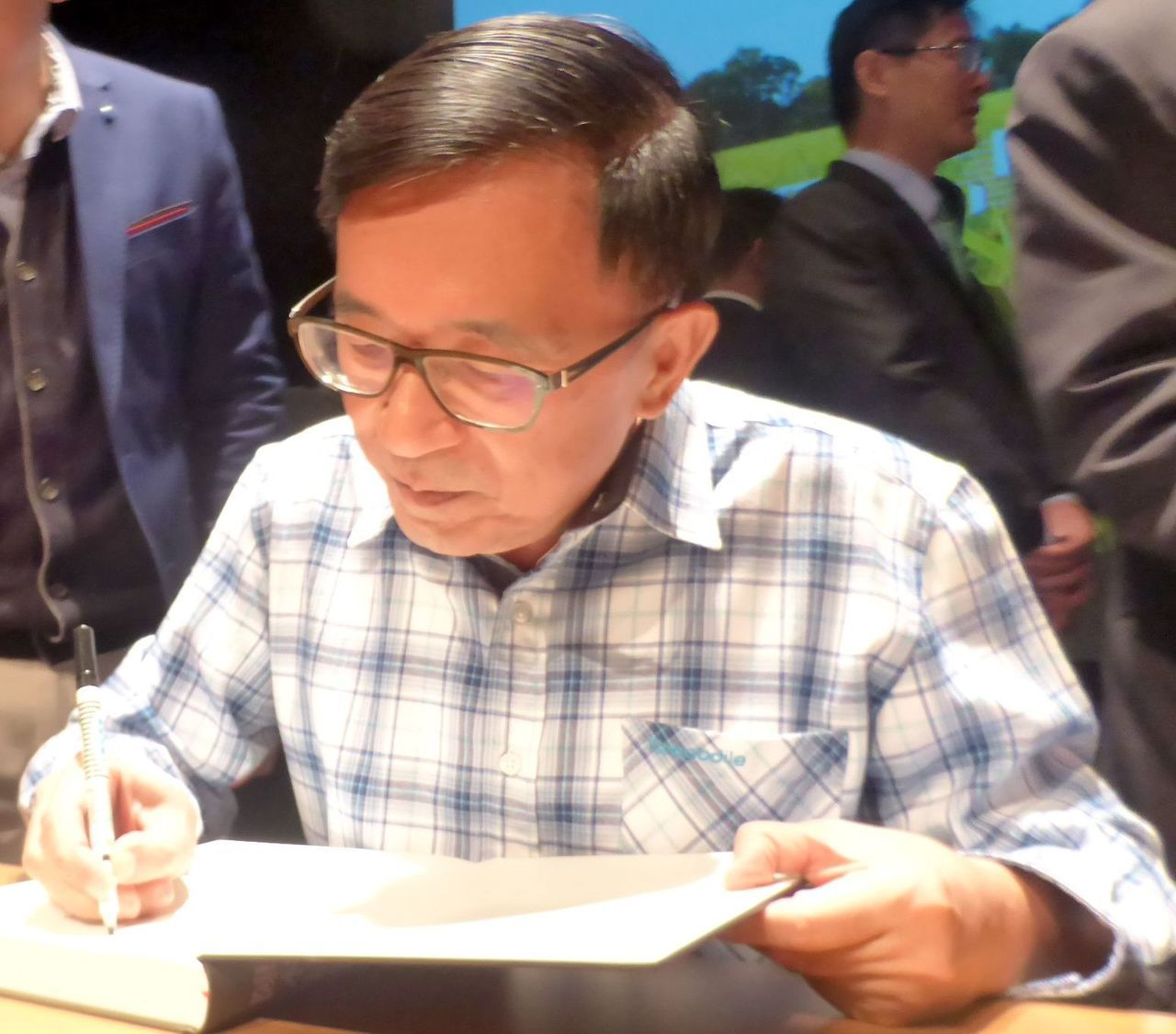 前總統陳水扁的頭髮是自然黑,沒有染過。圖/聯合報資料照片