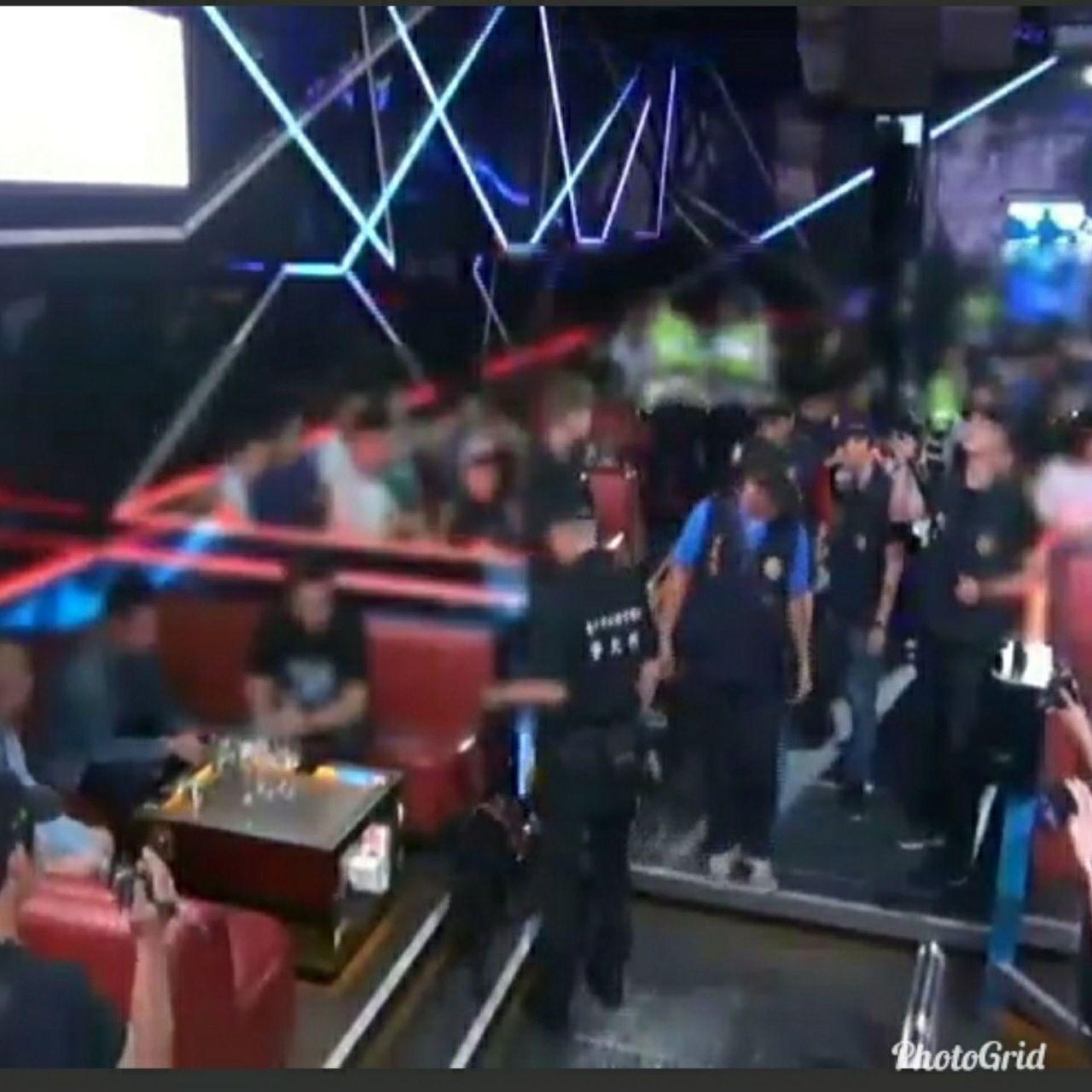 台中市警局今臨檢KTV、夜店,查緝毒品等不法。記者陳宏睿/翻攝