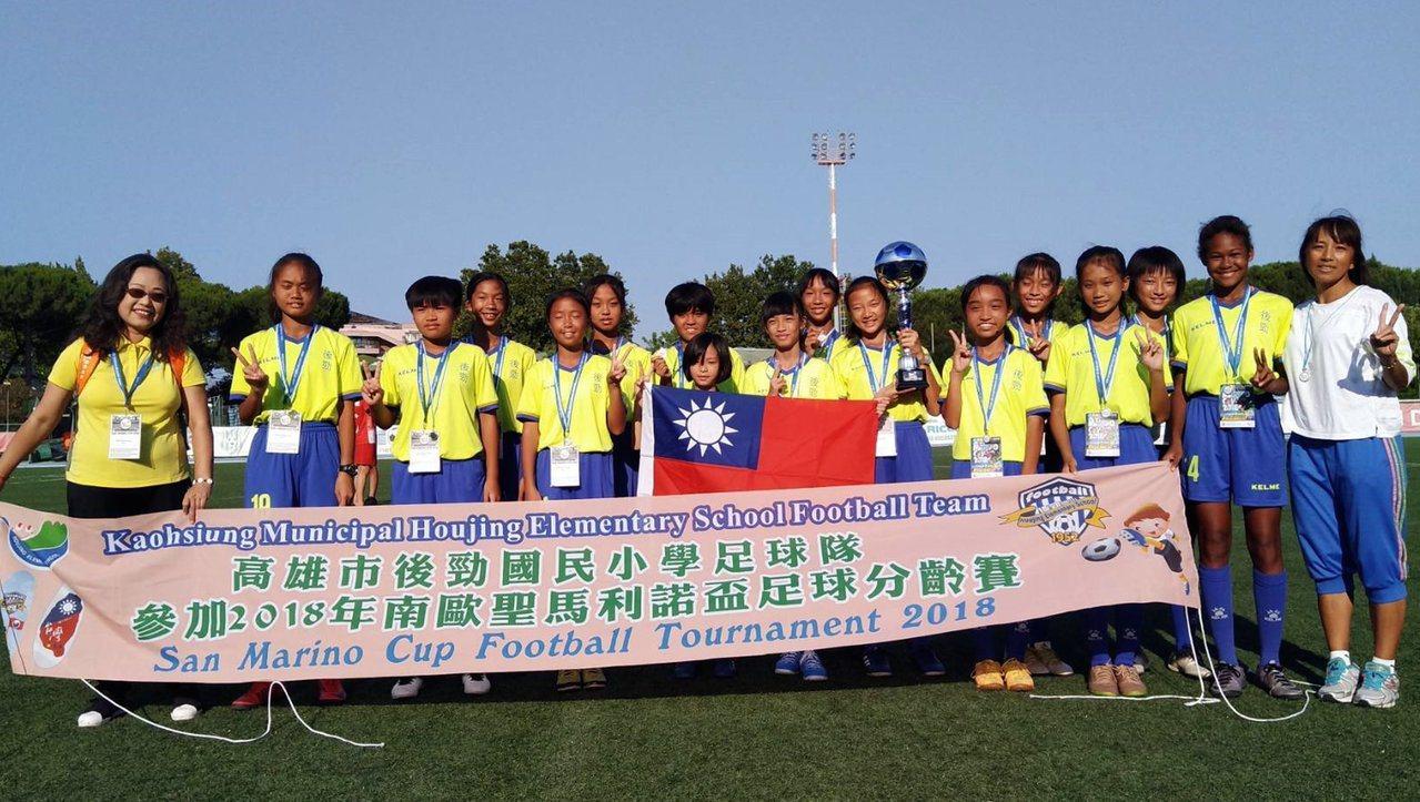 高雄市後勁國小女子足球隊赴義大利參加2018年聖馬利諾盃SAN MARINO C...