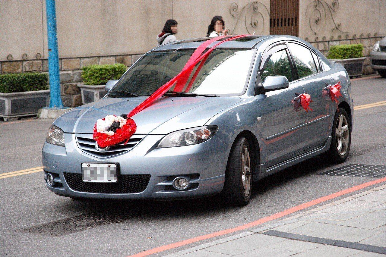 新婚一周嫁妝車就被偷,警方循線追回車輛。記者蕭雅娟/攝影