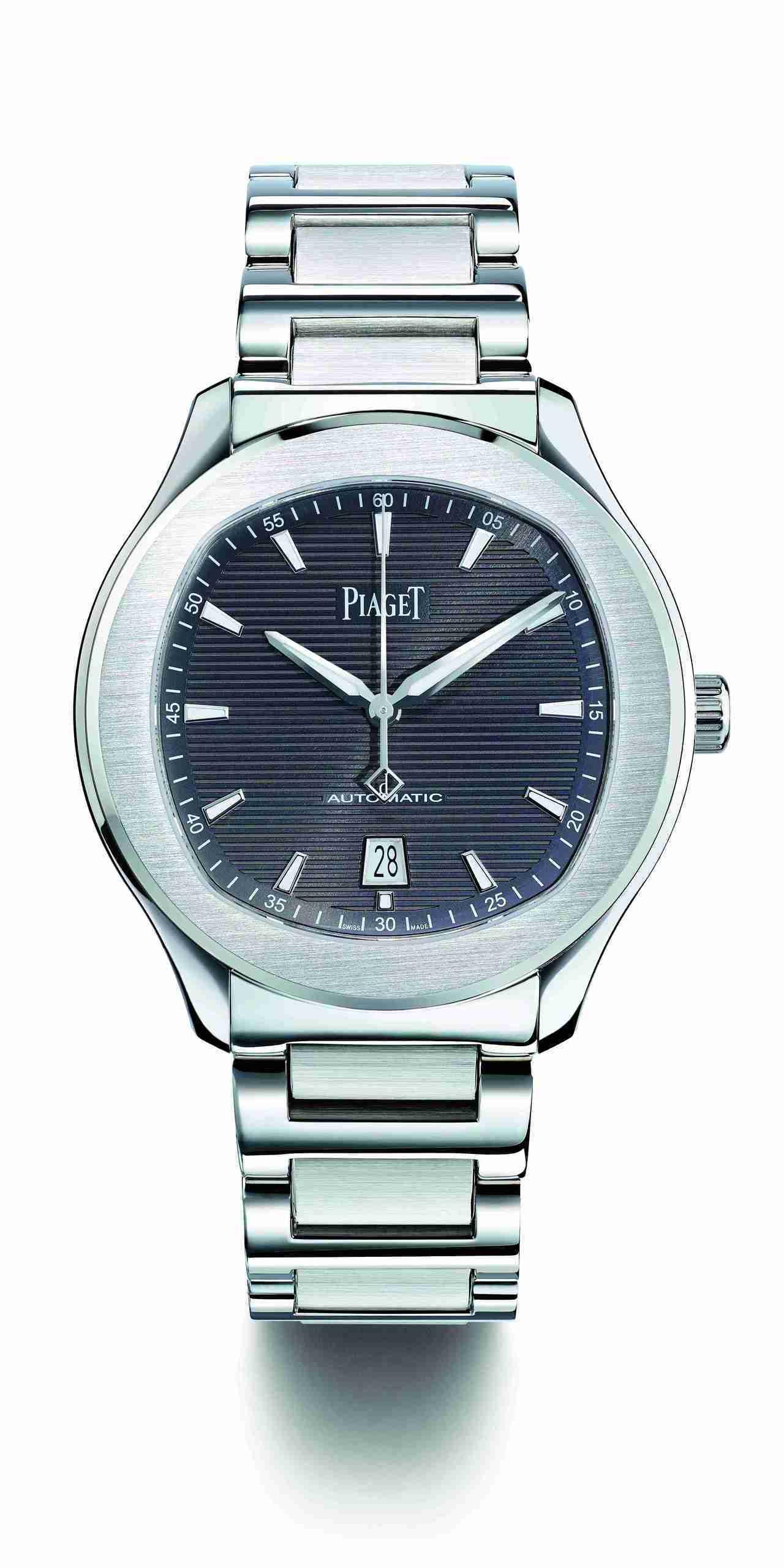 官鴻配戴的Piaget Polo S 大三針腕錶表,42毫米精鋼表殼、伯爵製11...