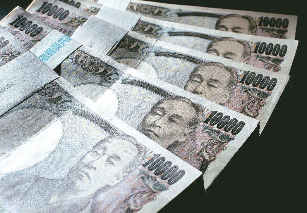 日幣匯率於7月13日達到0.274,為近一個月新低。圖/報系資料照