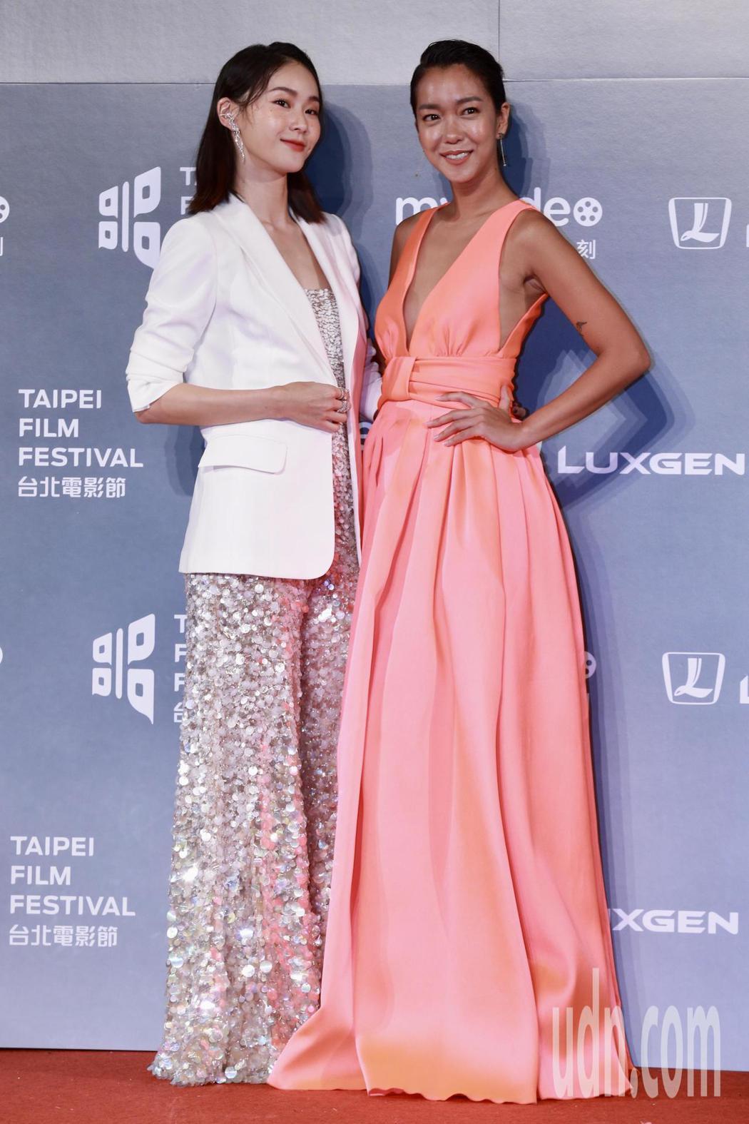 2018台北電影獎,劇情長片海人魚劇組,演員鍾瑤(左)、李霈瑜。記者林伯東/攝影