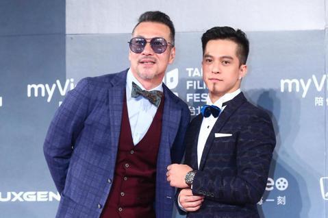 2018台北電影獎,頒獎人黃仲崑、黃遠父子檔出席。