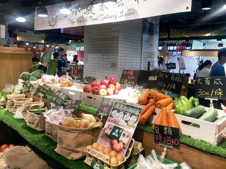 市場搬進百貨商場,大熱天買菜不再受苦,食材保鮮也更有保障。 圖/朱慧芳