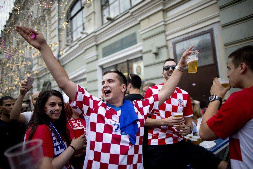 克羅埃西亞粉絲。 美聯社