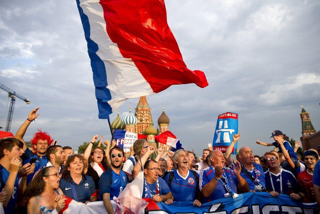 法國球迷。 美聯社