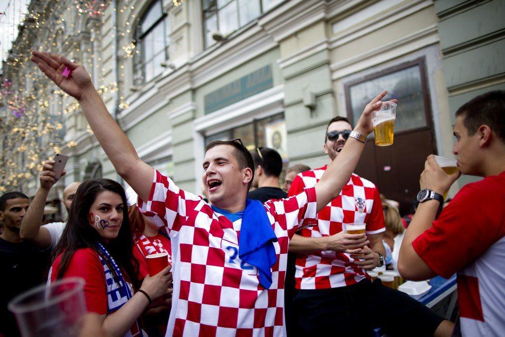 克羅埃西亞球迷。 美聯社
