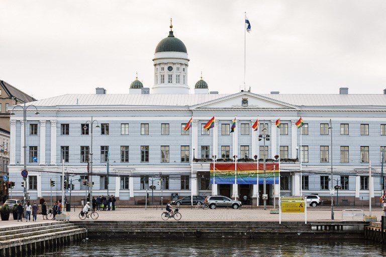 赫爾辛基市政廳。 (法新社)