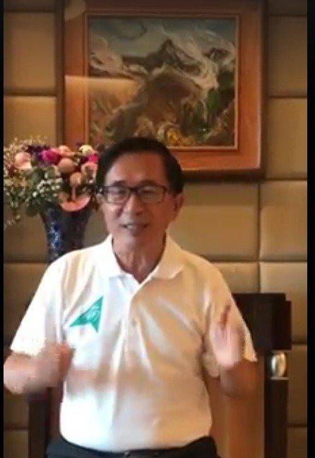 民進黨昨舉行全國黨代表大會,陳水扁未出席,但透過「新勇哥物語」發表錄影談話。 記...