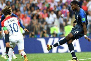 法國、克羅埃西亞精采進球圖 59分鐘博格巴進球