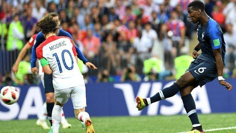 博格巴(右)下半場59分鐘進球。 擷圖自FIFA官網