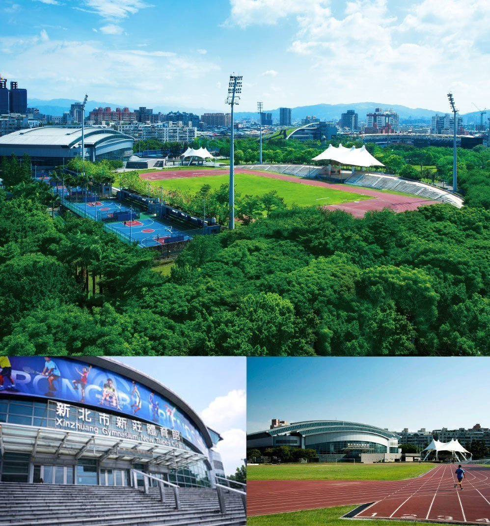 6.6萬坪運動公園,室內室外運動場所多比照國際規格,提供青少年、樂退族健康休憩場...