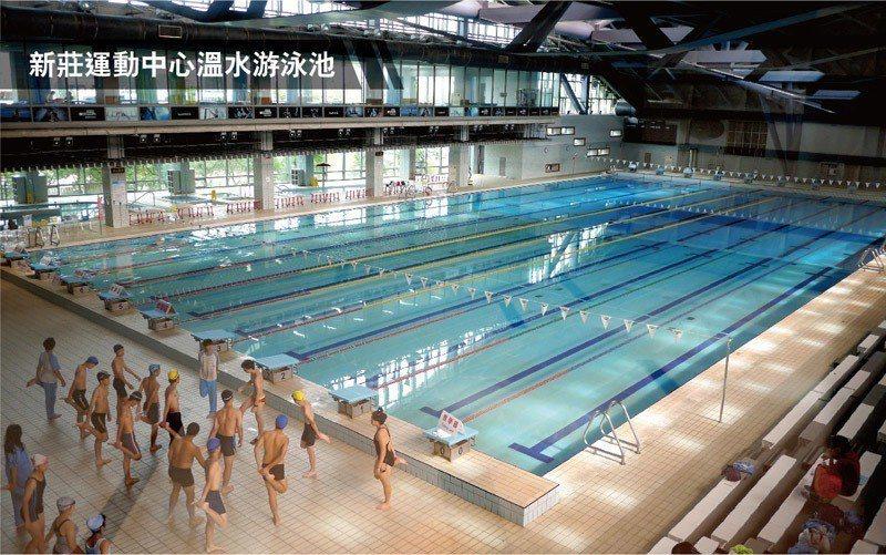 新莊國民運動中心,擁有國際標準級50米長水道室內泳池。 業者/提供