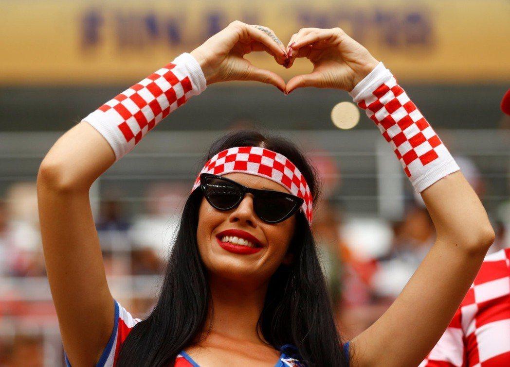 克羅埃西亞球迷。 路透