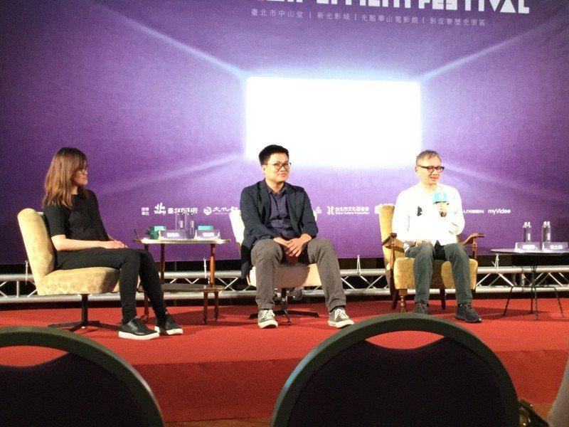 台北電影節15日下午二時在中山堂舉辦楊士琪卓越貢獻獎得主陳國富和台灣新生代製片劉