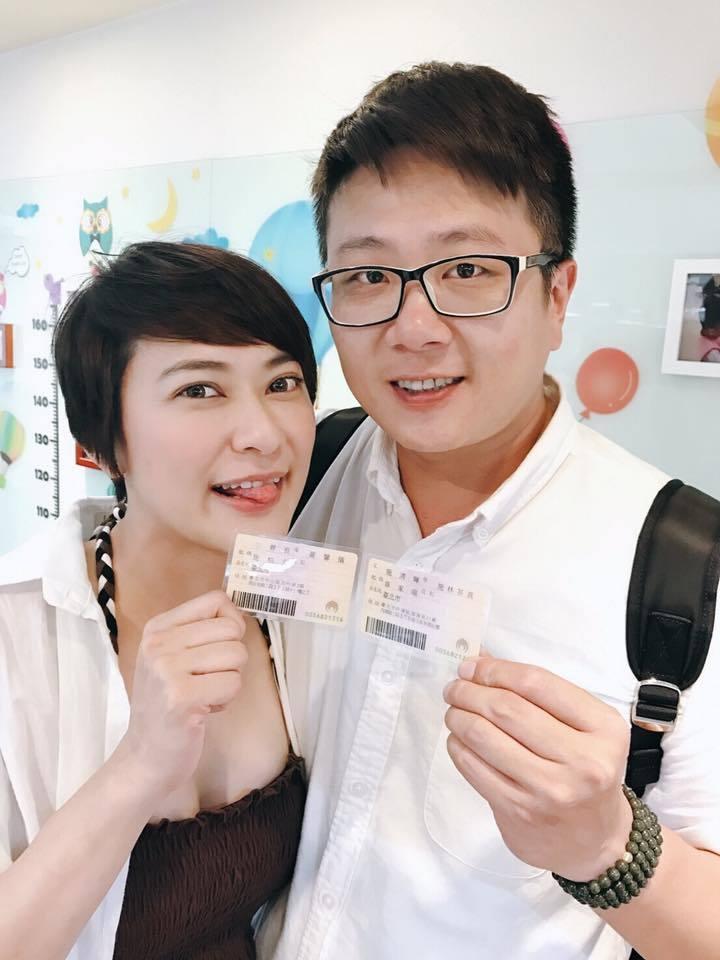 章家瑄嫁電影製片老公施柏全。圖/摘自臉書