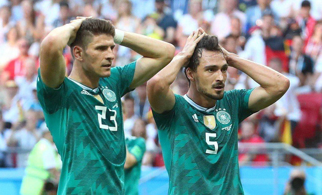 德國本屆世足賽小組出局。 美聯社