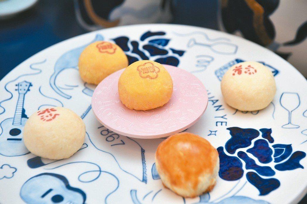 郭元益邀請台灣設計品牌「只是ZISHI」進行合作糕餅食器。 圖/郭元益