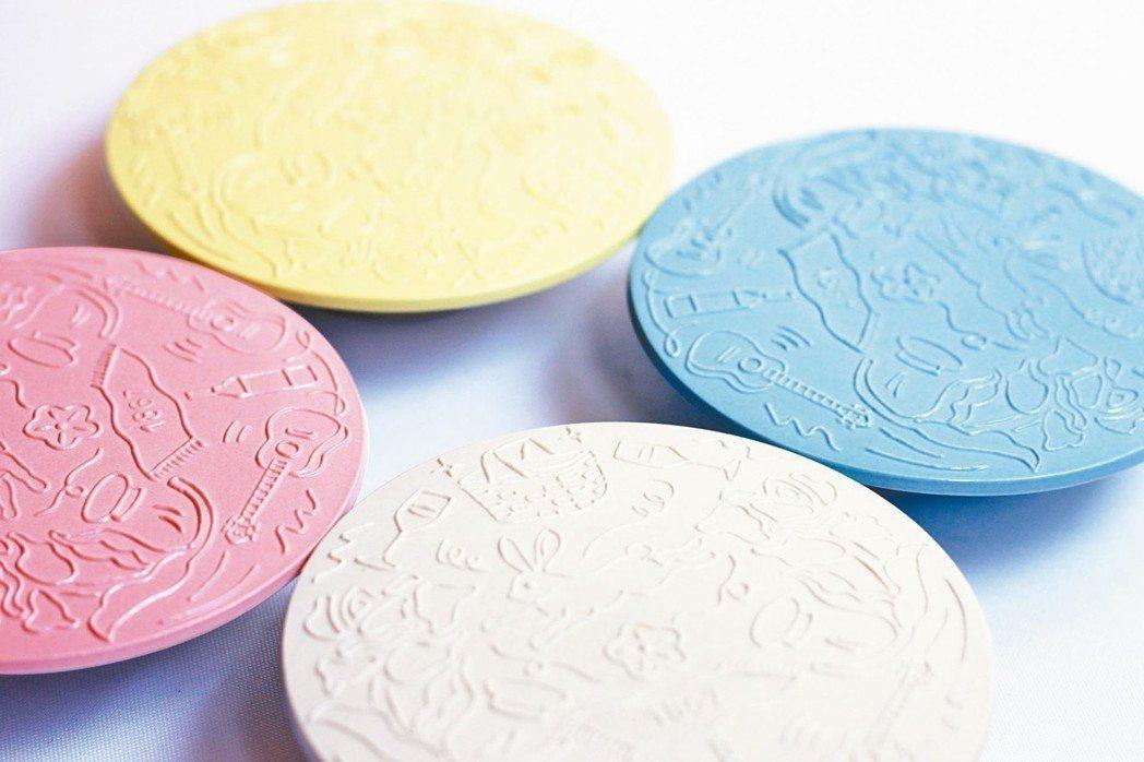 郭元益邀請台灣設計品牌「只是ZISHI」進行合作糕餅食器「波兔旬彩碟」。 圖/郭...