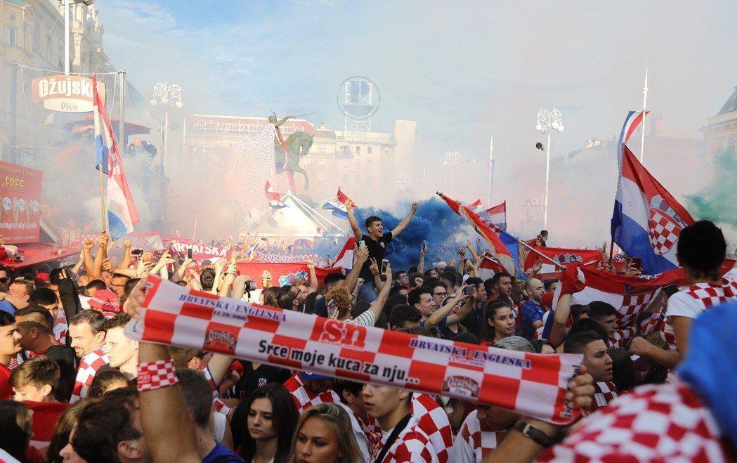 克羅埃西亞支持球迷。 歐新社