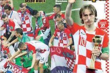世足凱歸 克羅埃西亞報紙向英雄致敬