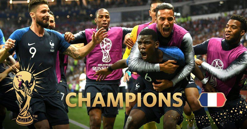 EA Sports 成功預測到法國會是 2018 世界盃的冠軍。圖/截自EA S...