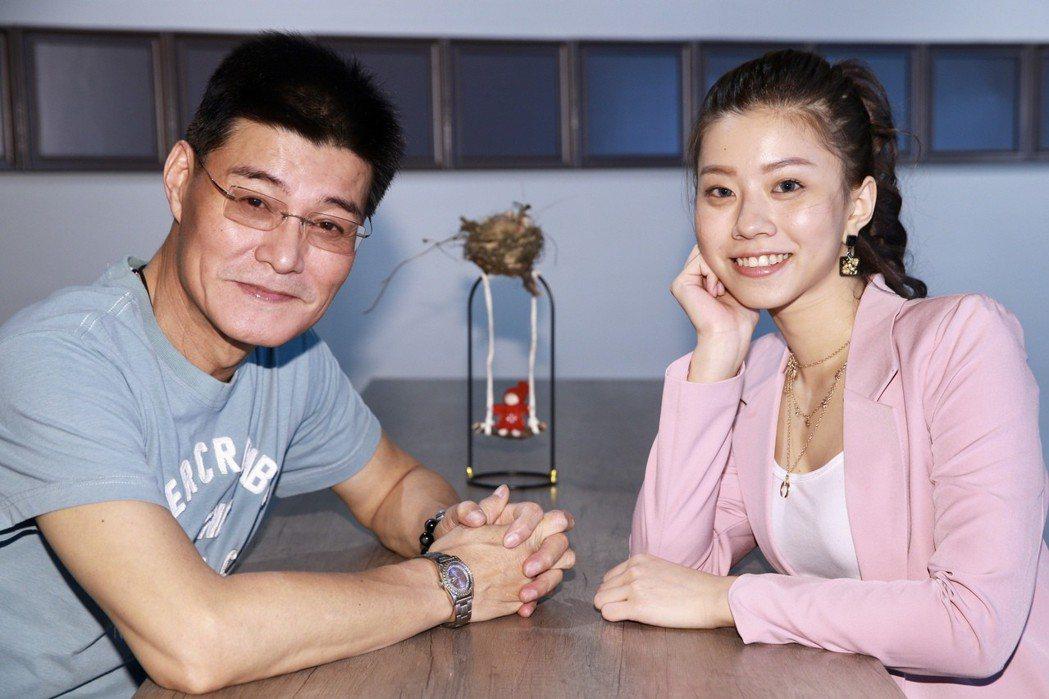 王中皇(左)與女兒王采婕(右)。記者林伯東/攝影