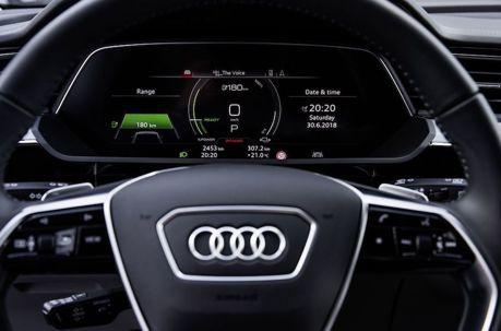 Audi E-Tron內裝照正式公布 兼具家族特徵與未來感