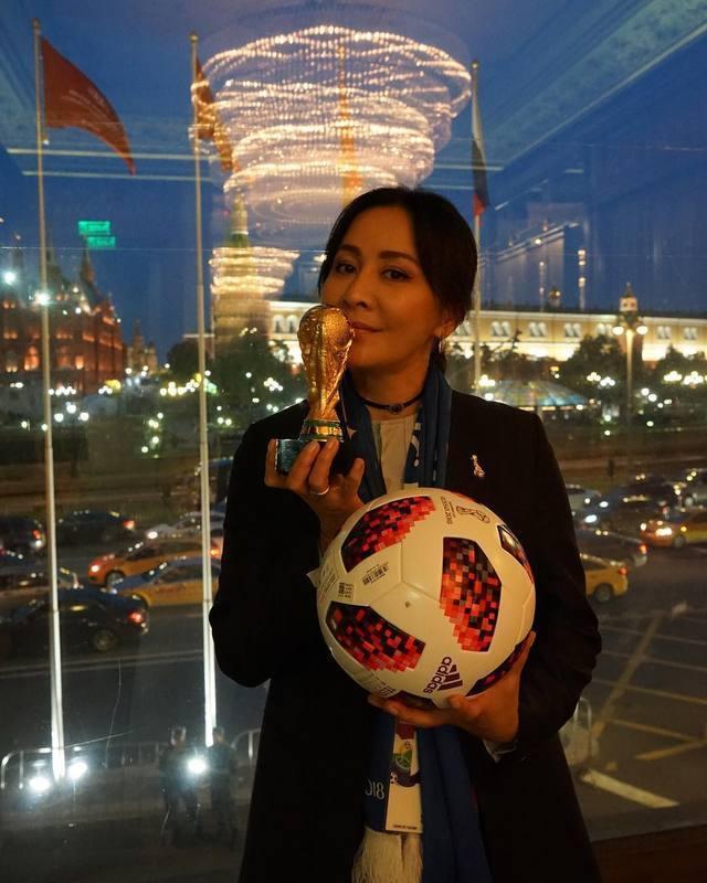 劉嘉玲也到俄羅斯觀看世足冠軍賽。圖/摘自IG