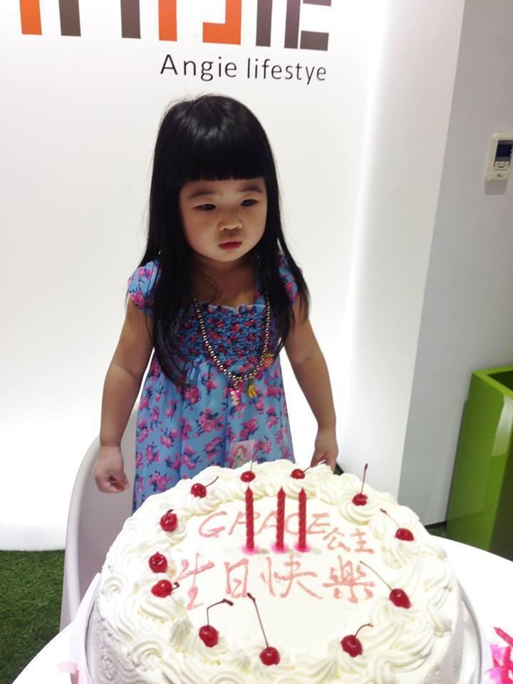 Grace(包子姐姐)3歲時的模樣相當可愛。圖/摘自臉書