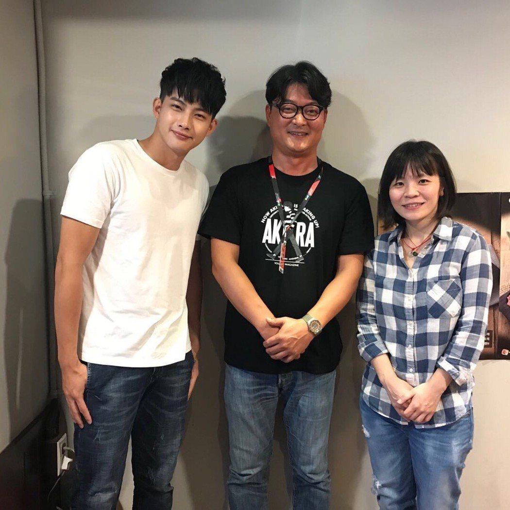 張庭瑚(左起)、「屍速列車」監製李東河及導演林冠慧。圖/良人行影業提供