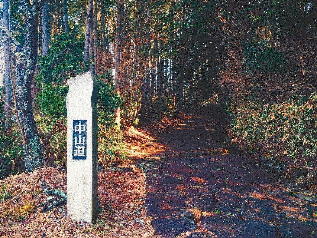 沿途的中山道指標。 文、攝影/陳瑋柔