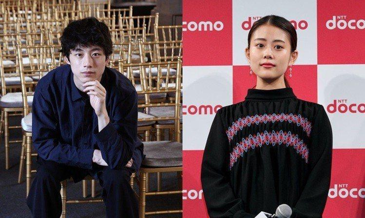 (左)坂口健太郎、高畑充希。圖/記者蘇健忠攝影、達志影像