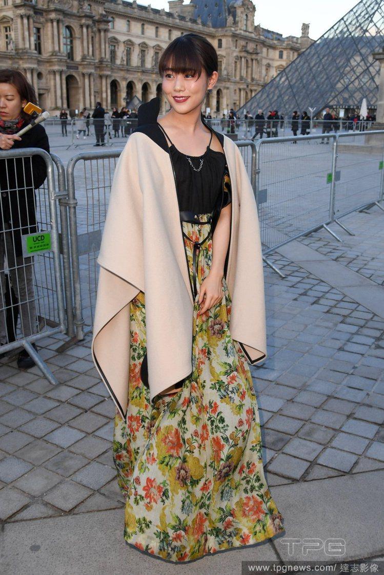 高畑充希受邀出席觀賞LV在巴黎的時裝秀。圖/達志影像