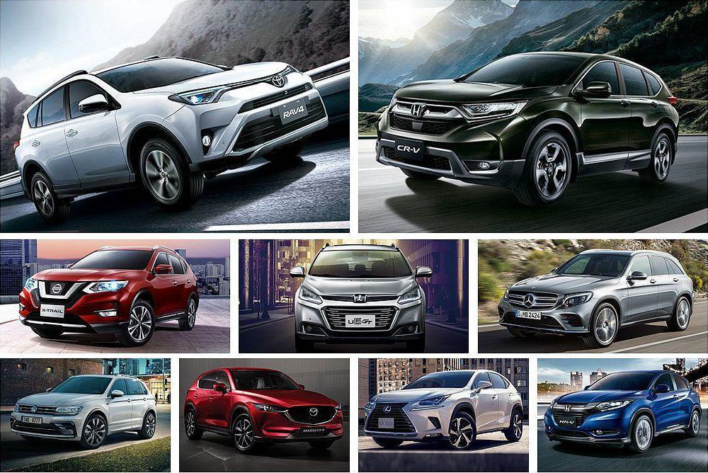 臺灣汽車市場上半年休旅銷售排名出爐,在前10名當中國產、進口剛好各占5款車外,還...