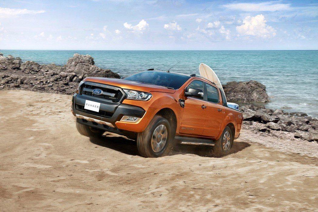 在台灣,Ford Ranger自2014年起連續四年蟬聯運動皮卡銷售冠軍。2018上半年以近六成五的市佔率穩居皮卡級距的領導地位,整體銷量較去年同期成長超過30%。 圖/福特六和提供