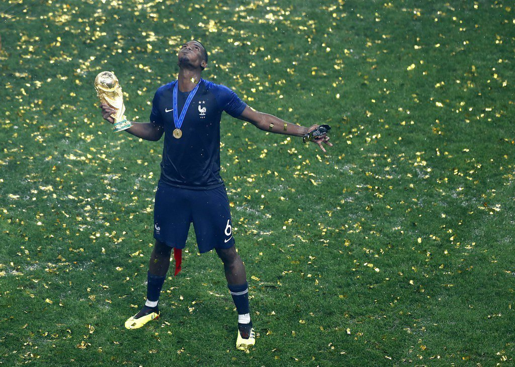 法國主力球員博格巴,是非裔移民。 美聯社