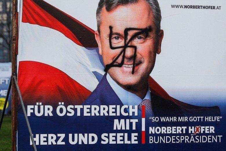 2016年,奧地利自由黨的霍弗,挑戰總統大位以失敗做收。 圖/路透社