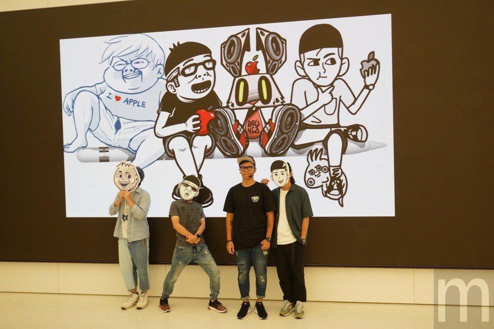 台灣圖文創作者當肯、A Ray、油頭二世與Bounce分享如何藉由iPad、Ap...