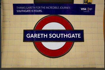 世足英格蘭教頭邵斯蓋特爆紅 倫敦地鐵站以他命名
