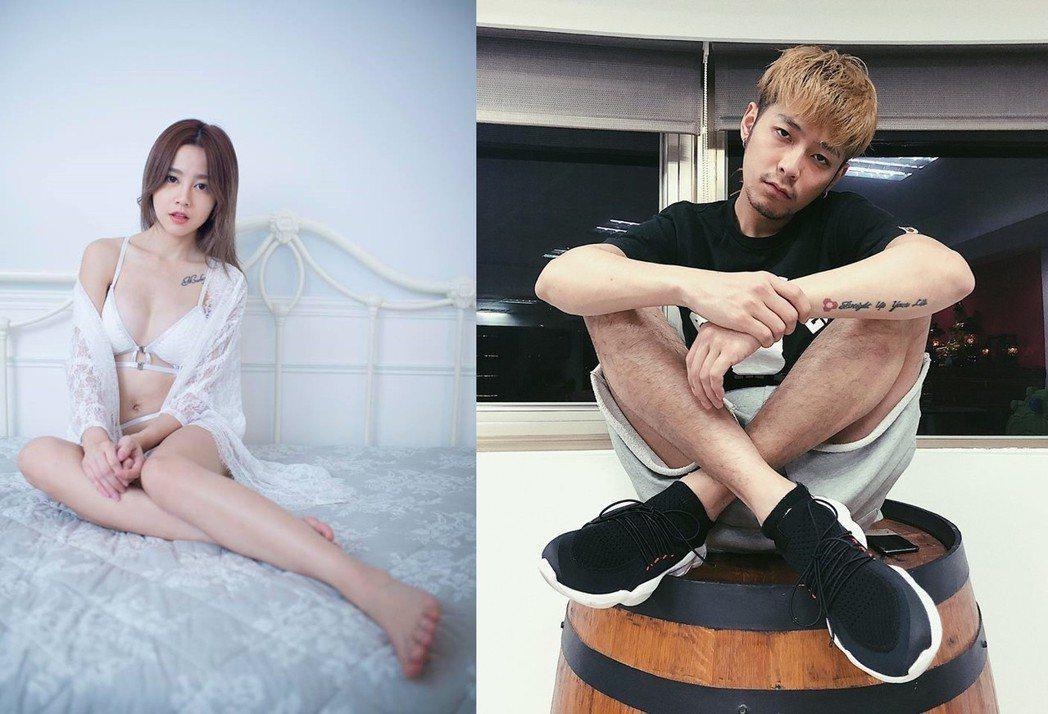 何念兹(左)被爆戀上C咖男星陳希騰。圖/摘自臉書