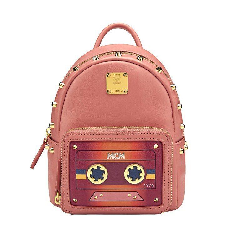 MCM Cassette Stark裸粉色背包,售價34,500元。圖/MCM提...